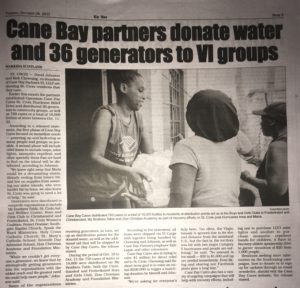 St. Croix Avis coverage of Cane Bay Cares Hurricane Relief distribution.