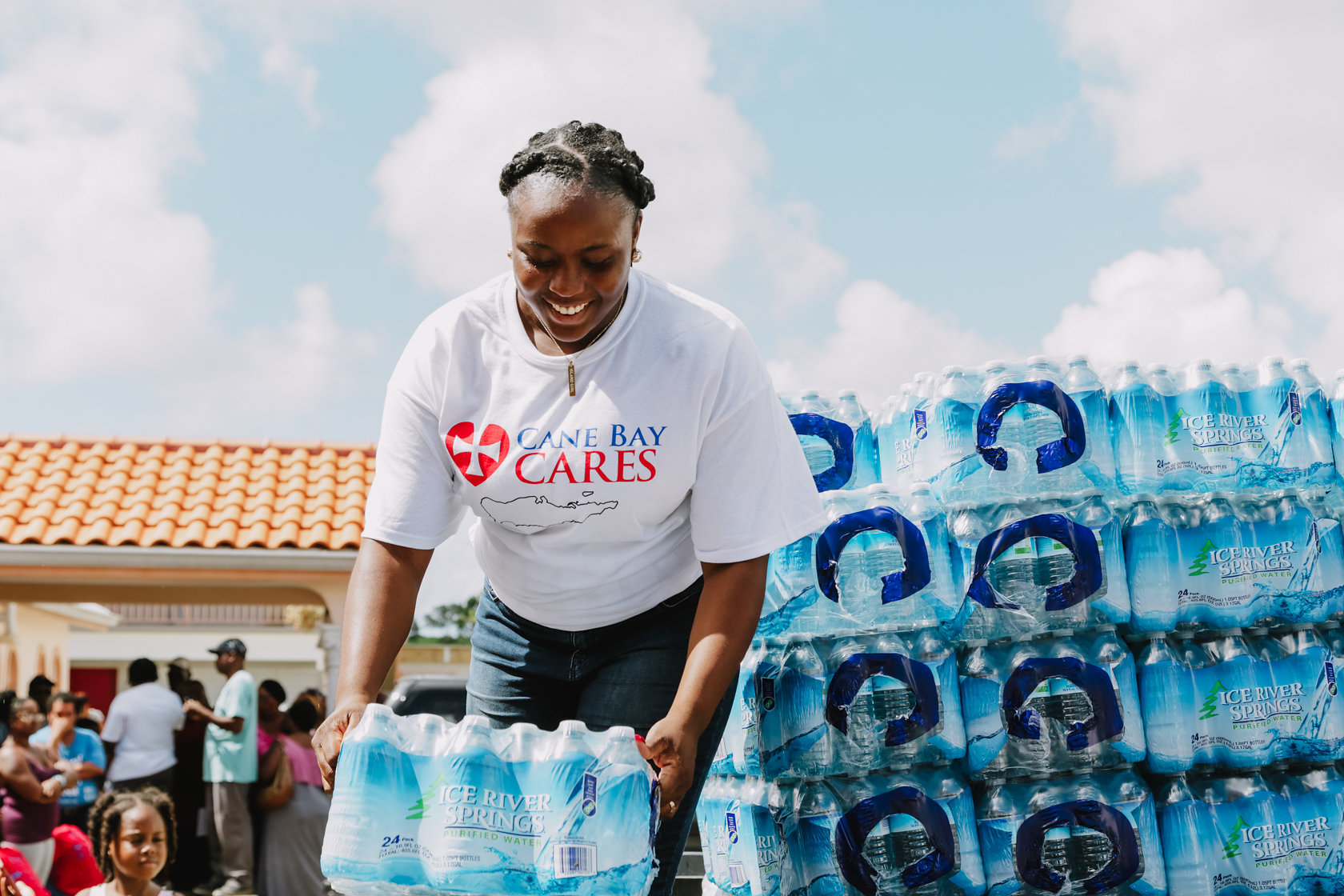 Cane Bay Partners Volunteers Distribute Several Thousand Pounds Of Food, Hundreds Of LUCI Solar Lights And 6 Pallets Of Water Donated By St. Croix Foundation At Zion Christian Academy On Saturday, Nov. 11. Photo Credit: Nicole Canegata Http://nicolecanegata.com/