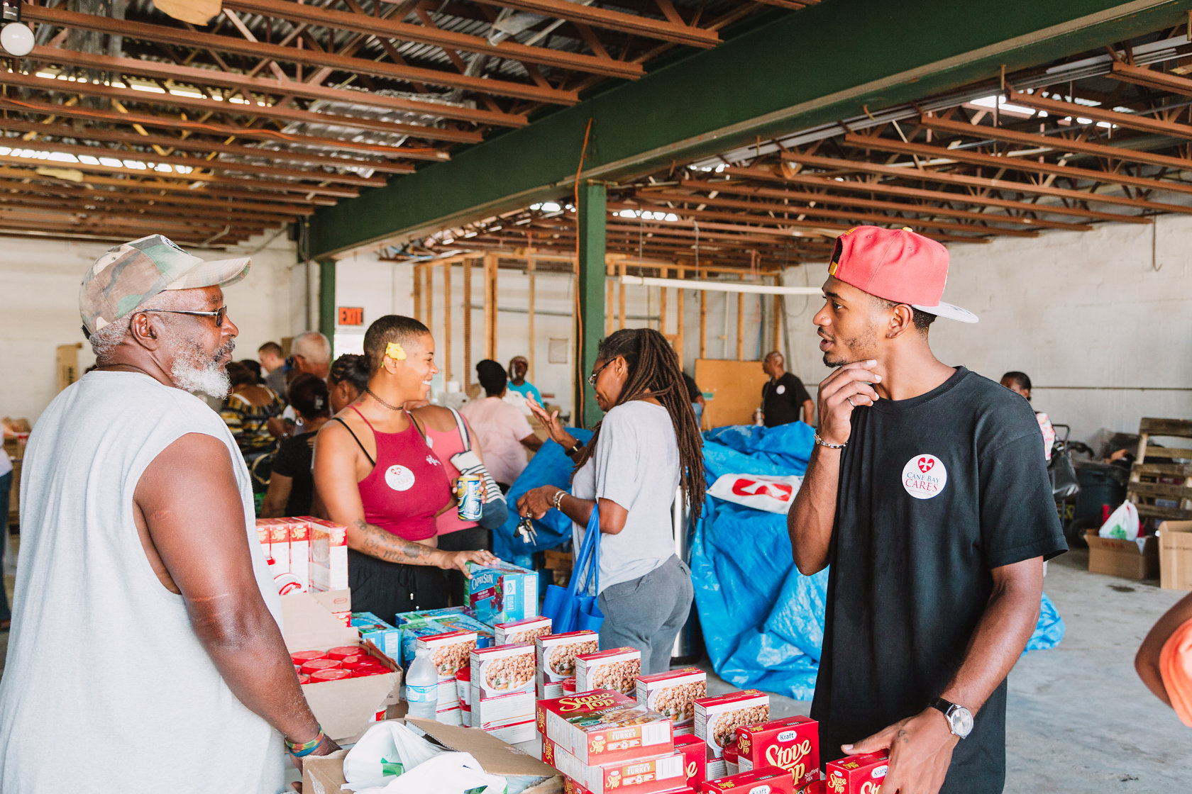 750 Individuals And Families Received Overflowing Bags Of Food From Cane Bay Cares Ahead Of The Thanksgiving Holiday Tuesday, Nov. 21 At Foundation Ministries. Photo Credit: Nicole Canegata Http://nicolecanegata.com/